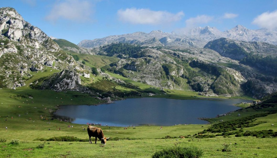 mountains, lake, blue