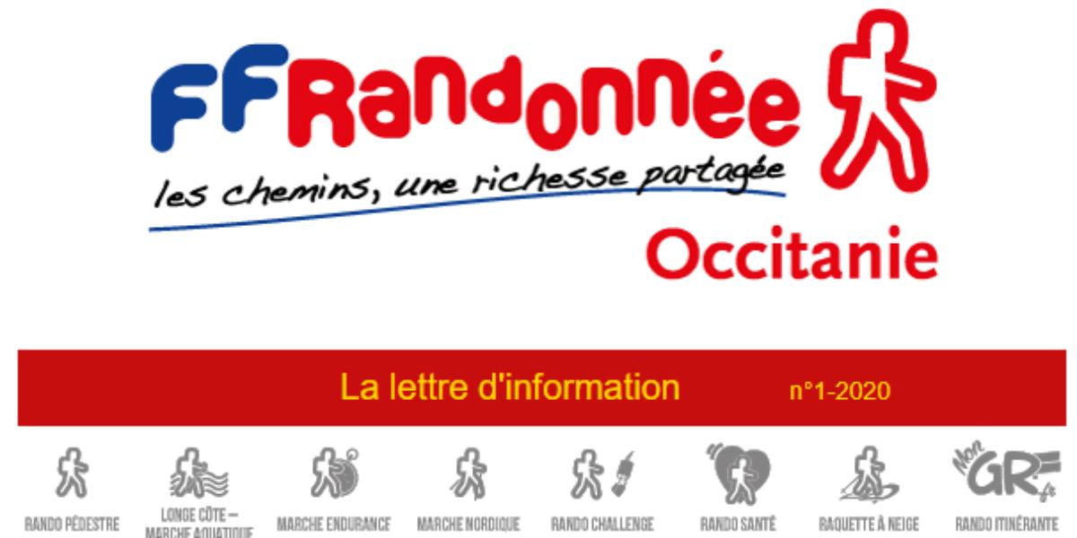 Lettre d'info de la FFRandonnée Occitanie N° 1 – Nov 20
