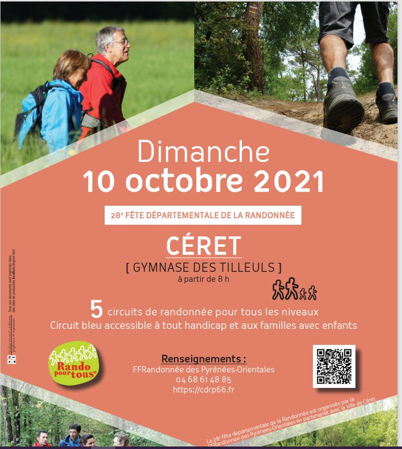 fête randonnée Ceret 2021